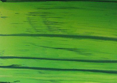 Paysage traversé glycéro sur toile 100x100